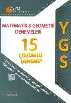 Sonuç Derece YGS Matematik Geometri 15 Çözümlü Denemeleri