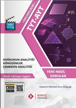 Sonuç Yayınları TYT AYT Doğrunun Analitiği Dönüşümler Çemberin Analitiği