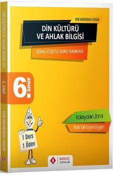 Sonuç Yayınları 6. Sınıf Din Kültürü ve Ahlak Bilgisi Konu Özetli Soru Bankası