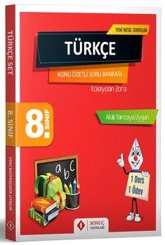Sonuç Yayınları 8. Sınıf Türkçe Konu Özetli Soru Bankası