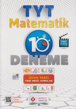 Sonuç Yayınları TYT Matematik Video Çözümlü 10 Deneme Karekodlu