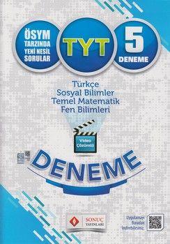 Sonuç Yayınları TYT Video Çözümlü 5 Deneme Karekodlu