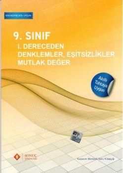 Sonuç Yayınları 9. Sınıf 1. Dereceden Denklemler Eşitsizlikler