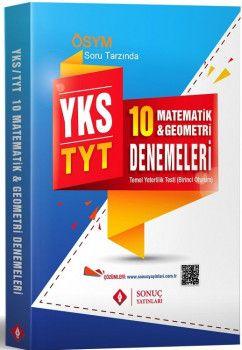 Sonuç Yayınları YKS 1. Oturum TYT Matematik Geometri 10 Deneme
