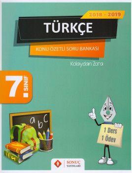 Sonuç Yayınları 7. Sınıf Türkçe Konu Özetli Soru Bankası Seti