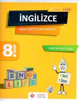 Sonuç Yayınları 8. Sınıf İngilizce Konu Özetli Soru Bankası