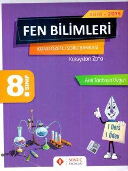 Sonuç Yayınları 8. Sınıf Fen Bilimleri Konu Özetli Soru Bankası