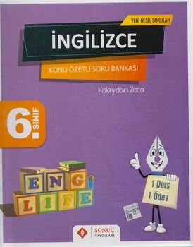 Sonuç Yayınları 6. Sınıf İngilizce Kazanım Merkezli Soru Kitapçığı Seti Yenilenmiş Baskı