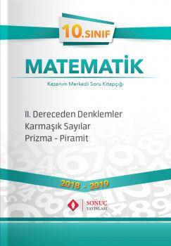 Sonuç Yayınları 10. Sınıf Matematik II. Dereceden Denklemler Karmaşık Sayılar Prizma Piramit