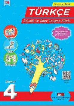 Soru Bankası Merkezi Yayınları 4. Sınıf Türkçe Etkinlik ve Ödev Çalışma Kitabı