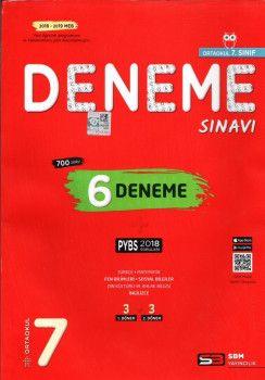 Soru Bankası Merkezi Yayınları6. Sınıf PYBS 6 Deneme Sınavı