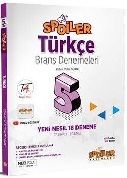 Spoiler Yayınları 5. Sınıf Türkçe Branş Denemeleri