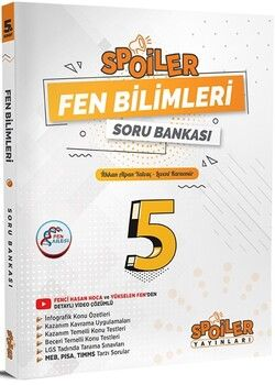 Spoiler Yayınları 5. Sınıf Fen Bilimleri Soru Bankası