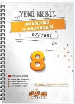 Spoiler Yayınları 8. Sınıf Din Kültürü ve Ahlak Bilgisi Yeni Nesil Defter