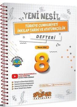 Spoiler Yayınları 8. Sınıf Türkiye Cumhuriyeti İnkılap Tarihi ve Atatürkçülük Yeni Nesil Defter