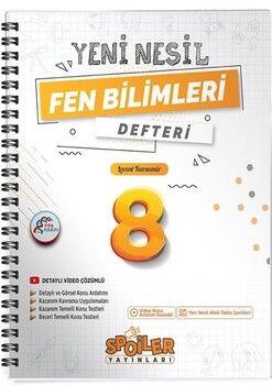 Spoiler Yayınları 8. Sınıf Fen Bilimleri Yeni Nesil Defter