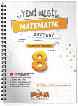 Spoiler Yayınları 8. Sınıf Matematik Yeni Nesil Defter