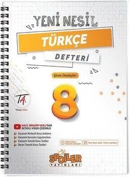 Spoiler Yayınları 8. Sınıf Türkçe Yeni Nesil Defter