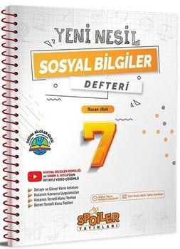 Spoiler Yayınları 7. Sınıf Sosyal Bilgiler Yeni Nesil Defter