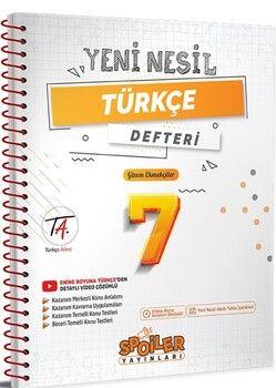 Spoiler Yayınları 7. Sınıf Türkçe Yeni Nesil Defter