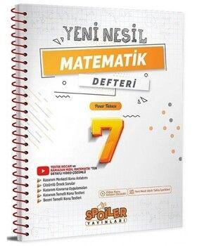Spoiler Yayınları 7. Sınıf Matematik Yeni Nesil Defter