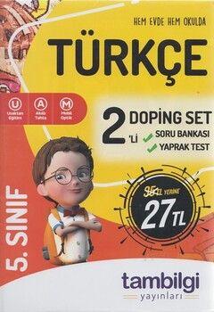 Tambilgi Yayınları 5. Sınıf Türkçe 2 li Doping Set