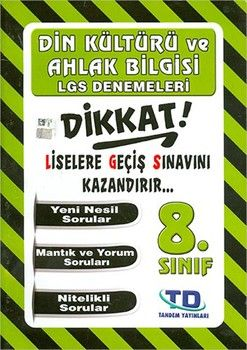 Tandem Yayınları 8. Sınıf LGS Din Kültürü Denemeleri