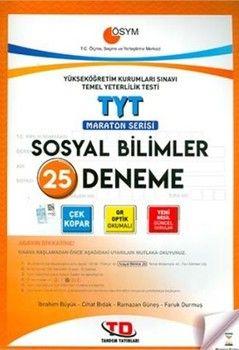Tandem Yayınları TYT Sosyal Bilimler 25'li Maraton Serisi Deneme