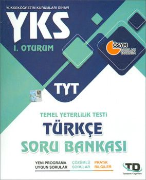 Tandem Yayınları YKS 1.Oturum TYT Türkçe Soru Bankası