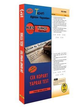 Tasarı 2022 ALES Türkçe Sözel Yetenek Yaprak Test