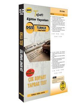 Tasarı 2022 DGS Türkçe Sözel Yetenek Yaprak Test