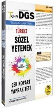 Tasarı Yayınları DGS Türkçe Sözel Yetenek Çek Kopart Yaprak Test