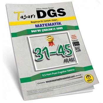Tasarı Yayınları 2020 DGS Matematik 31 45 Arası Çözümlü Soru Kitapçığı