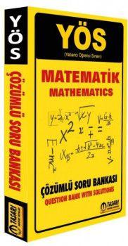 Tasarı Yayınları YÖS Matematik  Çözümlü Soru Bankası