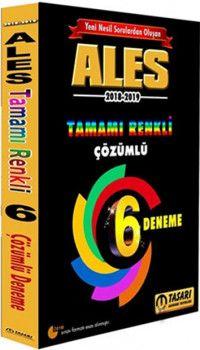 Tasarı Yayınları ALES Yeni Nesil 6 Renkli Fasikül Çözümlü Deneme