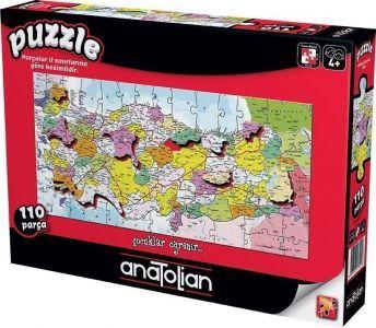 Türkiye Haritası İller / Türkiye Map 110 Parça Puzzle - Yapboz