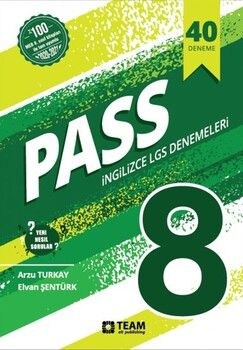 Team Elt Publishing 8. Sınıf LGS İngilizce Pass 40 Adet Deneme