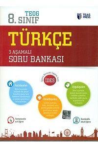 Teas Press Yayınları 8.Sınıf TEOG Türkçe 3 Aşamalı Soru Bankası