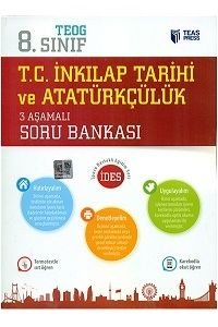 Teas Press Yayınları 8.Sınıf TEOG T.C. İnkılap Tarihi ve Atatürkçülük 3 Aşamalı Soru Bankası