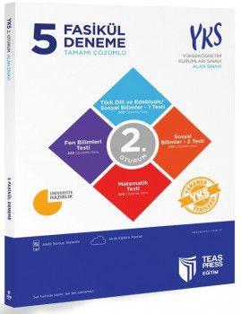 Teas Press Yayınları YKS 2. Oturum AYT 5 Fasikül Tamamı Çözümlü Deneme
