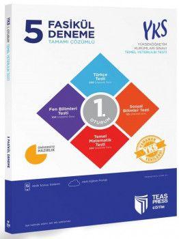 Teas Press Yayınları YKS 1. Oturum TYT 5 Fasikül Tamamı Çözümlü Deneme