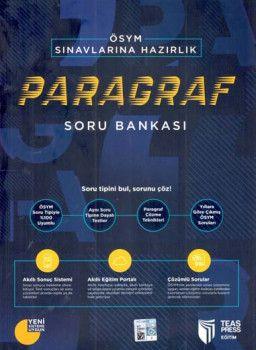 Teas Press Yayınları ÖSYM Sınavlarına Hazırlık Paragraf Soru Bankası
