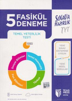 Teas Press Yayınları TYT 5 Fasikül Deneme