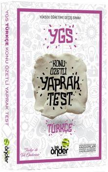 Tek Önder Yayınları YGS Türkçe Konu Özetli Yaprak Test