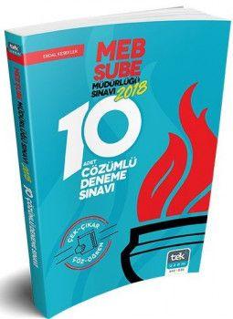 Tek Uzem Yayınları MEB Şube Müdürlüğü Çözümlü 10 Deneme Sınavı