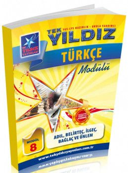 Tek Yıldız Yayınları Türkçe Adıl Belirteç İlgeç Bağlaç ve Ünlem Modül 8