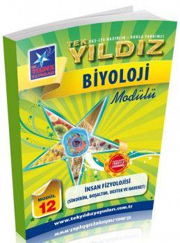 Tek Yıldız Yayınları Biyoloji İnsan Fizyolojisi Sindirim Boşaltım Destek ve Hareket Modül 12