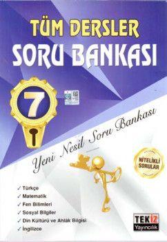 Tekiz Yayıncılık 7. Sınıf Tüm Dersler Soru Bankası
