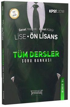 Teminat Yayınları 2018 KPSS Lise Ön Lisans Genel Yetenek Genel Kültür Tüm Dersler Soru Bankası