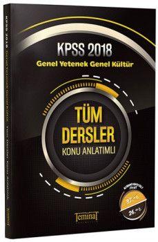 Teminat Yayınları 2018 KPSS Lise Ön Lisans Genel Yetenek Genel Kültür Tüm Dersler Konu Anlatımlı